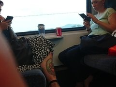 Candid Feet in the Train