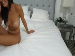 Horny Princess With Tiny Tits Takes On A Huge Cock