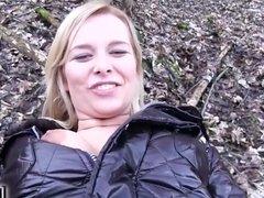 Euro Blonde Bangs Outdoors video starring Nikky Dream