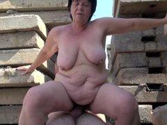 BBW Mature Outdoor Sex