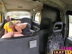 Female Fake Taxi Busty milf fucks Sutton fan