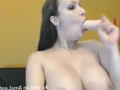 Big-tittied amateur babe gets nasty on webcam