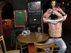 He gets snared and gay-fucked on the table