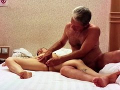 Playing with Chinesegirlfriend Tang in hotel