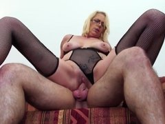 Mature shameless mom seduce lucky son