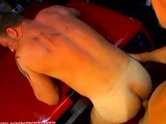 Hunk mechanics love to suck and fuck in the garage