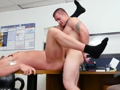 Naked hard straight caught gay First day at