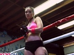 Boxing Brunette Gia Paige Fucks in the Ring