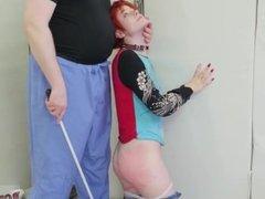 Upside down bondage orgasm Cummie, the