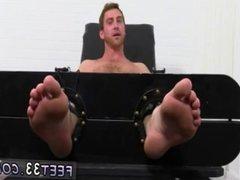 Gay light skin men feet sex play Connor
