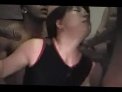 Asian milf Hottie Gangbanged by BBC black dudes