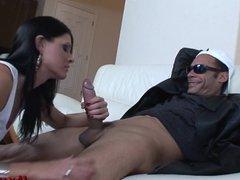 Husband watches wife take Massive Cock!