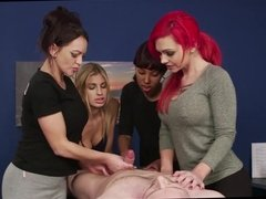 Four girl massage