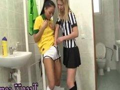 Lesbian teen hunter Brazilian player