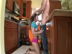 Teen fucked hard outdoors The Plumber gets