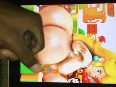 Princess Peach Big Booty Cum Tribute