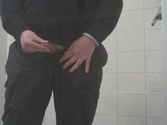 Cum in bathroom at Work