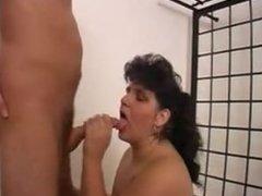 Big horny mature and her younger lover