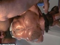 Big dick slave bound with cumshot