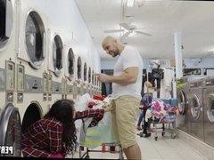 Teen at Laundromat