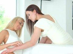 Sensual lesbian scene by Sapphix with Minnie Manga and