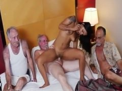 First hardcore threesome dp Staycation with