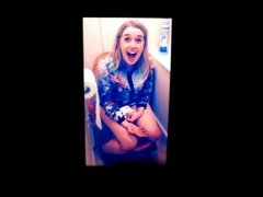 Ellie Ford on a toilet cum tribute