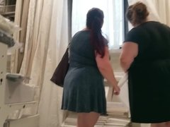 Two BBW Pawgs In Dresses.