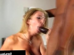 Nympho Milf Sara Jay Takes Two Black Cocks In Her Wet Holes!