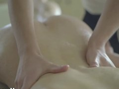 Massage X - Sex on a folding massage table
