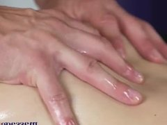 Massage Rooms Big butt blonde gives completion handjob to big cock stud