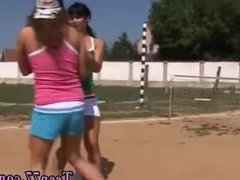 Amateur brunette dp first time Sporty teens