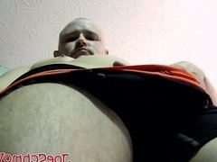 Bald dude Tony masturbates and gets his big cock sucked well