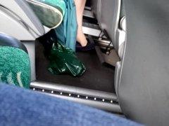 air hostess nylon legs