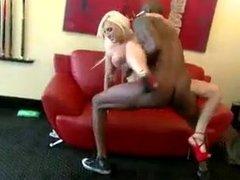 blonde babe takes black cock