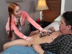 Teen girls suck and share cock Dolly Little