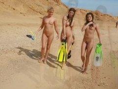 Sunny Nudist Beach Girls
