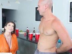 Step mom Sara Jay wins big cock