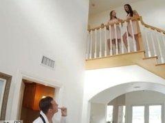 partner helps fuck wife best friends first