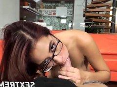 Cute secretary Paula with amazing tits gets a good fucking