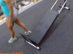 Ebony fitness pawnee gets naked for cash