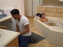 Father patron's daughter take bath Lexy
