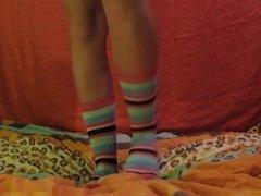 Striped Sock Tease