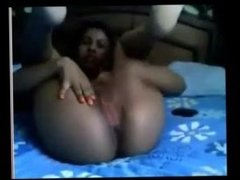 Cam girl having fun Black girl