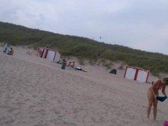 nice naked girl on the beach