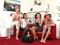 Four Bisex Friends Love to Suck and Fuck