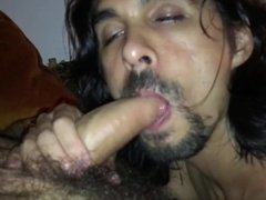 Straight Hung Hairy Hippie Suck and Cum Swallow - Porn Video
