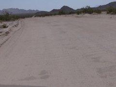 Outdoors in the desert