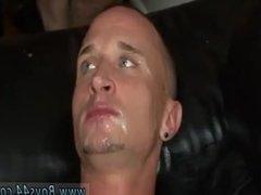 Glory hole male anal sex hot cum filled ass