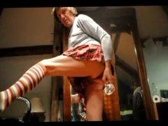 transvestite crossdresser schoolgirl fisting anal sextoy dildo 50